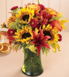 Autumn Beauty Vase from Martinsville Florist, flower shop in Martinsville, NJ