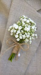 Babys Breath Boutineer from Martinsville Florist, flower shop in Martinsville, NJ