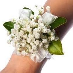 Babys Breath Wristlet from Martinsville Florist, flower shop in Martinsville, NJ