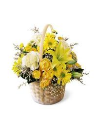 Basket of Gold from Martinsville Florist, flower shop in Martinsville, NJ