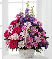 Basket of Pink Lavender Posies from Martinsville Florist, flower shop in Martinsville, NJ