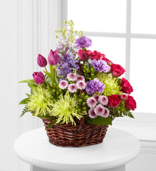 Basket of Spring from Martinsville Florist, flower shop in Martinsville, NJ