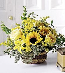 Basket of Sunshine from Martinsville Florist, flower shop in Martinsville, NJ