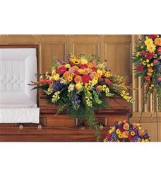 Celebration of Life Casket Spray  from Martinsville Florist, flower shop in Martinsville, NJ