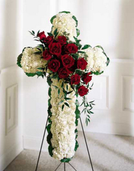 Expression of Faith Cross from Martinsville Florist, flower shop in Martinsville, NJ