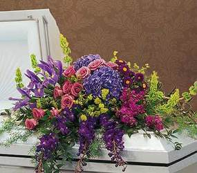 Graceful Tribute Casket Spray from Martinsville Florist, flower shop in Martinsville, NJ