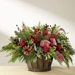 Holiday Home Comings Christmas Basket from Martinsville Florist, flower shop in Martinsville, NJ