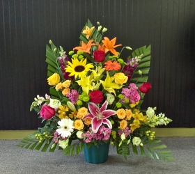 Citrus Triangle Basket from Martinsville Florist, flower shop in Martinsville, NJ