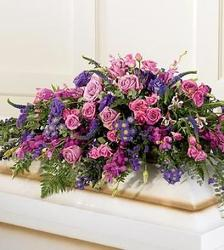 Pink & Purple Expression Casket from Martinsville Florist, flower shop in Martinsville, NJ
