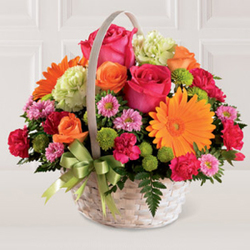 Radiant Basket from Martinsville Florist, flower shop in Martinsville, NJ