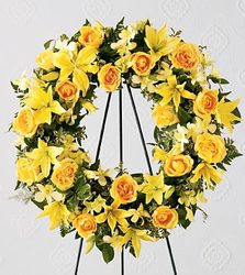 Smile from Heaven Wreath from Martinsville Florist, flower shop in Martinsville, NJ