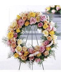 Soft & Lovely Wreath from Martinsville Florist, flower shop in Martinsville, NJ