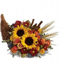Classic Cornucopia from Martinsville Florist, flower shop in Martinsville, NJ