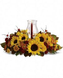 Sunflower Centerpiece from Martinsville Florist, flower shop in Martinsville, NJ