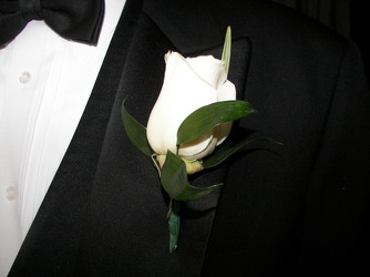 Rose Boutonniere from Martinsville Florist, flower shop in Martinsville, NJ