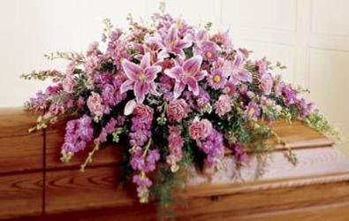 Blanket of Grace Casket from Martinsville Florist, flower shop in Martinsville, NJ