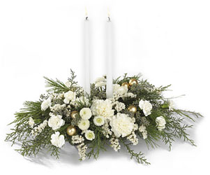Wintergarden Candle Centerpiece from Martinsville Florist, flower shop in Martinsville, NJ
