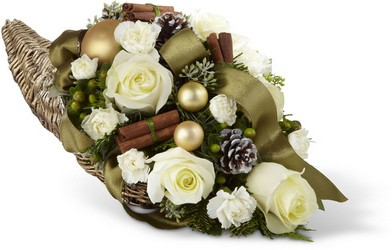 Holiday Classics Cornucopia from Martinsville Florist, flower shop in Martinsville, NJ
