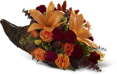 Harvest Home Cornucopia from Martinsville Florist, flower shop in Martinsville, NJ