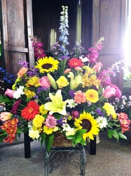 Basket of Color from Martinsville Florist, flower shop in Martinsville, NJ