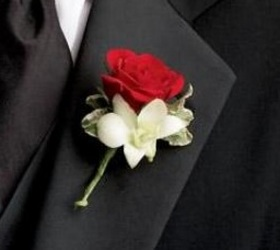 Rose & Orchid Boutonniere from Martinsville Florist, flower shop in Martinsville, NJ