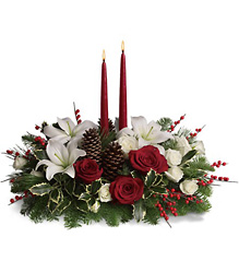 Christmas Wishes Centerpiece from Martinsville Florist, flower shop in Martinsville, NJ