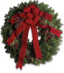 Classic Holiday Wreath from Martinsville Florist, flower shop in Martinsville, NJ
