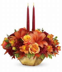 Thanksgiving Candle Arrangement from Martinsville Florist, flower shop in Martinsville, NJ