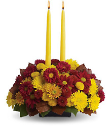 Harvest Happiness Centerpiece from Martinsville Florist, flower shop in Martinsville, NJ