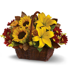 Golden Days Basket from Martinsville Florist, flower shop in Martinsville, NJ