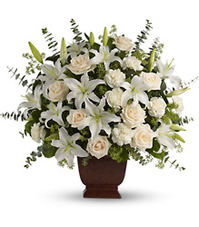Loving Lilies and Roses Bouquet from Martinsville Florist, flower shop in Martinsville, NJ