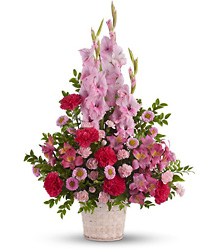 Pink Impression Basket from Martinsville Florist, flower shop in Martinsville, NJ