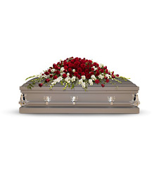 Garden of Grandeur Casket Spray from Martinsville Florist, flower shop in Martinsville, NJ