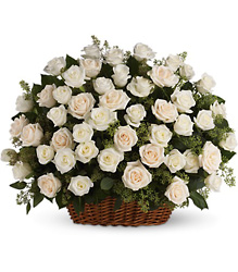 Bountiful Rose Basket from Martinsville Florist, flower shop in Martinsville, NJ