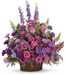 Gracious Lavender Basket from Martinsville Florist, flower shop in Martinsville, NJ