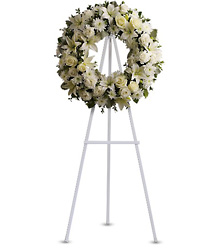 Serenity Wreath from Martinsville Florist, flower shop in Martinsville, NJ