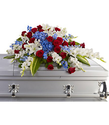 Distinguished Service Casket Spray from Martinsville Florist, flower shop in Martinsville, NJ