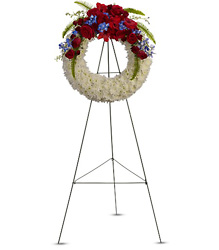 Reflections of Glory Wreath from Martinsville Florist, flower shop in Martinsville, NJ