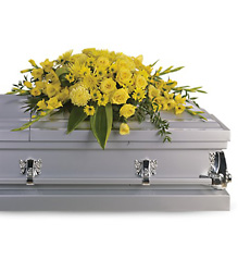 Graceful Grandeur Casket Spray from Martinsville Florist, flower shop in Martinsville, NJ