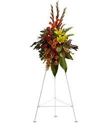 Tropical Tribute Spray from Martinsville Florist, flower shop in Martinsville, NJ