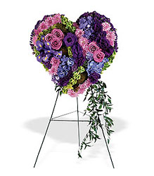 Graceful Tribute Heart from Martinsville Florist, flower shop in Martinsville, NJ