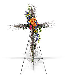 Birch Compassion Cross from Martinsville Florist, flower shop in Martinsville, NJ