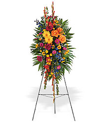 Lasting Remembrance Standing Spray from Martinsville Florist, flower shop in Martinsville, NJ