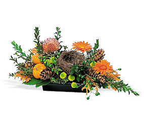 Visions of Autumn Centerpiece from Martinsville Florist, flower shop in Martinsville, NJ