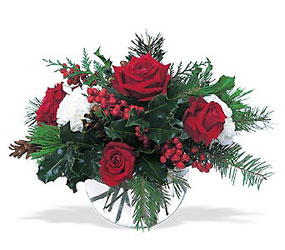 Christmas in a Bowl from Martinsville Florist, flower shop in Martinsville, NJ