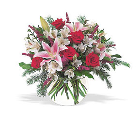Holiday Happiness from Martinsville Florist, flower shop in Martinsville, NJ